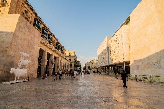 Blog on Life Malta Valletta New Parliament main gate