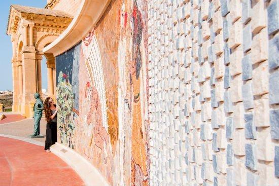 Blog on Life Travel Gozo Ta Pinu church of miracles mosaic