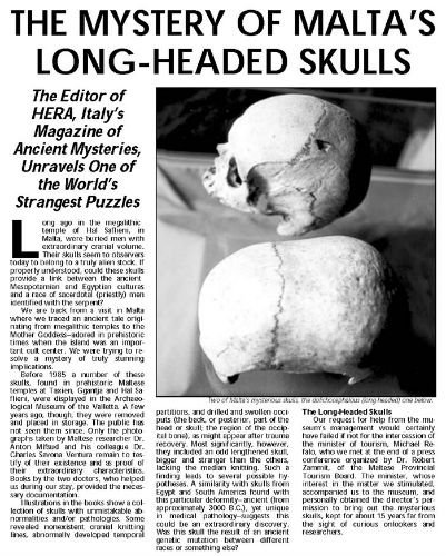 Blog on Life Travel Malta Hypogeum elongated skulls