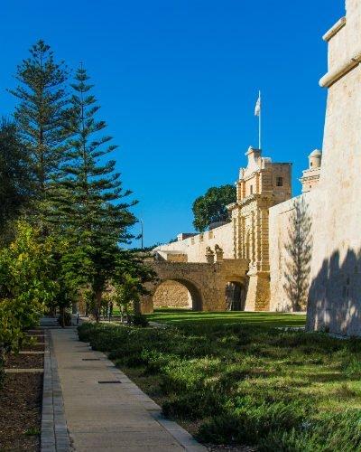 Blog on Life Travel Malta Mdina The Silent City gardens