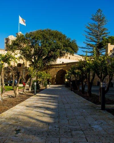 Blog on Life Travel Malta Mdina garden surrounding fortress