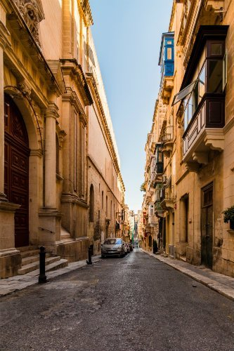 Blog on Life Travel Malta Valletta capital city street