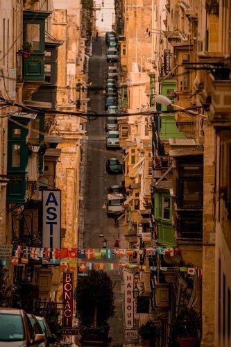 Blog on Life Travel Malta Valletta downhill streets