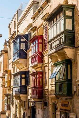 Blog on Life Travel Malta Valletta traditional balconies