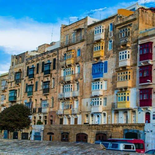Blog on Life Valletta traditional balconies ph Alex Turnbull